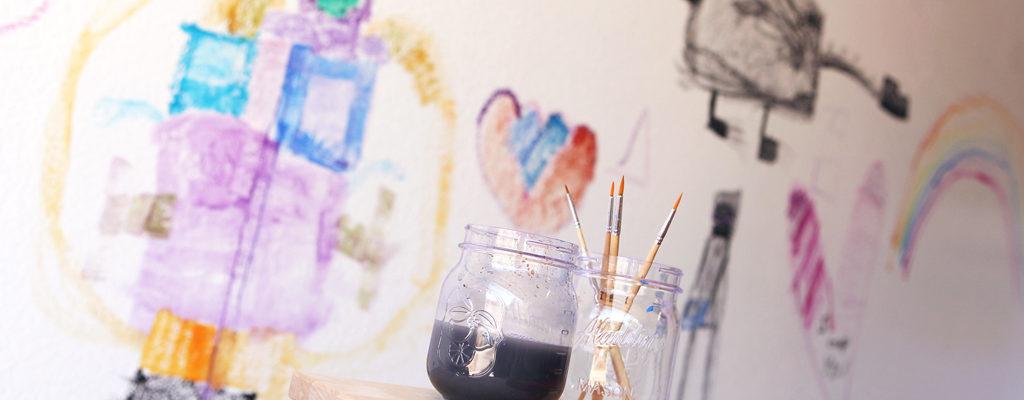 How to Create a Kids' Art Wall
